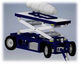 Aircraft engine transport carts