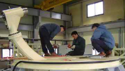 Wind tunnel test model support device (Aerospace Research Institute)